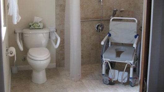 wheelchair access bathroom remodel