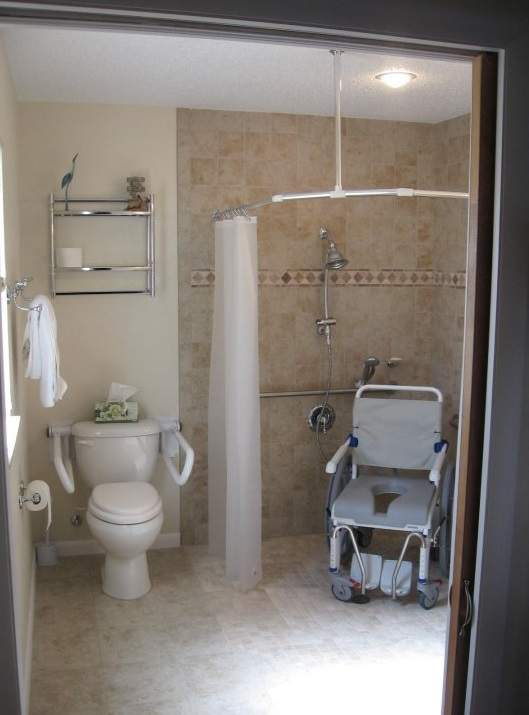 handicap access bathroom remodel