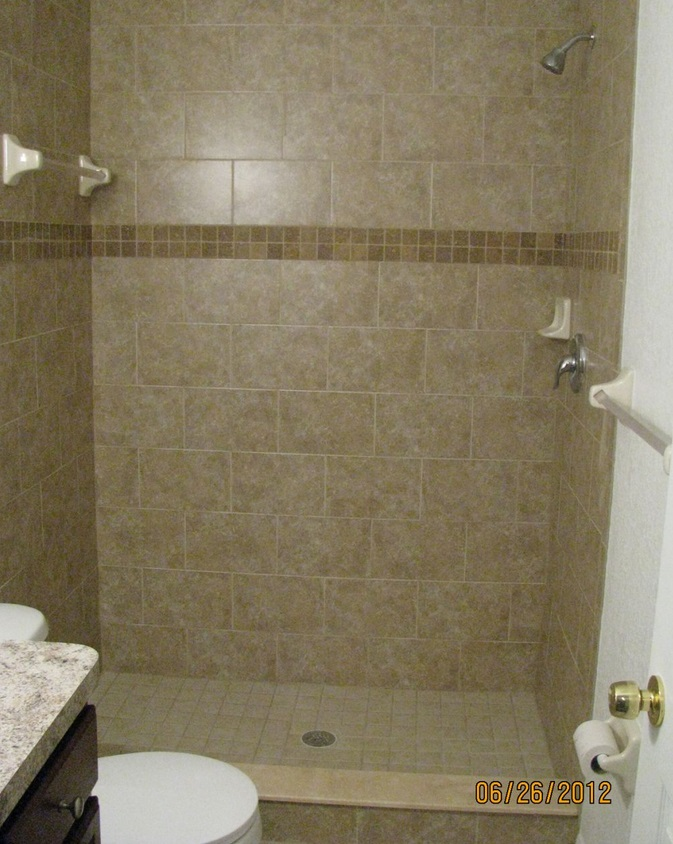 tiled shower remodel